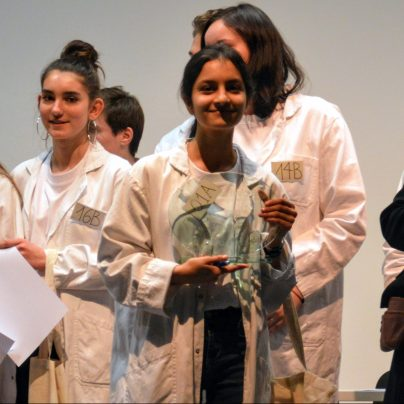 Maryam Ali from the American School of Grenoble, 3rd place winner