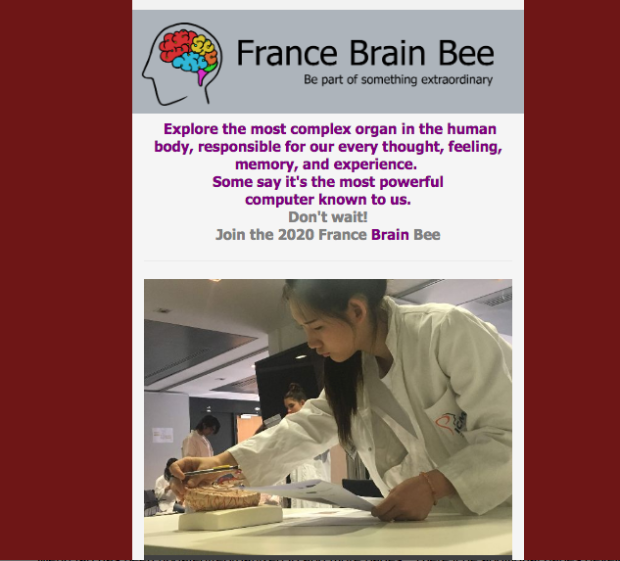France Brain Bee Newsletter 12 Dec 2019